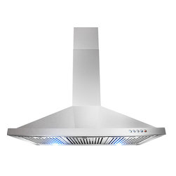 "AKDY - AKDY AG-Z63190KT Euro Stainless Steel Wall Mount Range Hood, 36"" - This 36 in. wall mount range hood not only provides excellent performance, but looks great as well. It features a powerful 760-CFM motor and has three fan-speed settings and 6 in. round duct to work perfectly with your needs. The dishwasher-safe baffle filter is a breeze to clean up, and optional recirculating and chimney extension kits are available."