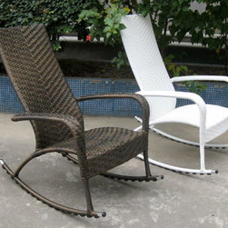 Rattan Furniture - Resin rattan rocking chair. Splendid for rockin' and relaxing outdoors or indoors.