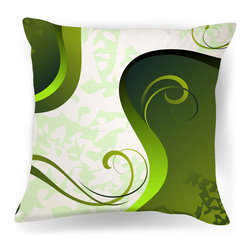 Affordable Modern Decor:Green And White Home Pillows - Ambiance Design