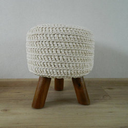 Off-white Pouf by Made by Ans