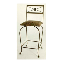 "Grace - Neoclassic Swivel Counter Stool - Features: -Painted according to your choice of metal finish. -Ships fully assembled. -Dimensions: 18"" W x 19"" D x 43"" H. About Grace Collection: Grace Manufacturing is a metal and wrought iron furniture manufacturing company located in Rome, GA. The company has been in business for 25 years and continues to employ skilled artisans and craftsmen. In addition to their state of the art manufacturing equipment they still assemble and finish many products by hand. Many items in the Grace Collection are fully hand made or hand painted. With products ranging from barstools, counter stools, and dinettes to wrought iron beds, hanging potracks, bakers racks and more, Graces line meets all professional and home needs. By implementing unique styles and ideas to traditional products, Grace has created an exceptional balance between creativity and practicality. Their design styles range somewhere between whimsical, neo classic and traditional, thus creating a truly astonishing decor for any inside space."