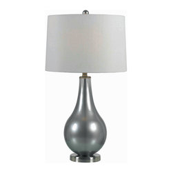 Kenroy Home - Kenroy 32043MP Teardrop Table Lamp - These always popular tear shaped lamps have lustrous, luminous finishes.  Brighten up any room with these glitzy, versatile, blown glass lamps.
