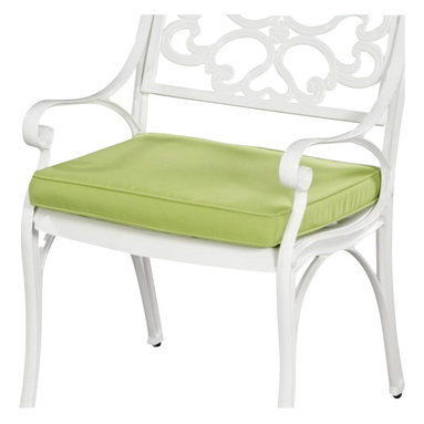 Home Styles - Home Styles Green Apple Fabric Outdoor Seat Cushion - Home Styles - Outdoor Cushions and Pillows - 5500CUS - Green Apple Fabric cushions are 100% woven polyester Sunbrella  fabric water repellent and fade resistant over a polyurethane foam core. Two-tie on cords are included to hold cushions in place. Size: 19.68w 18.5d 1.97h.