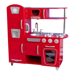 Kidkraft - KidKraft Vintage Play Kitchen in Red - Kidkraft - Kitchens - 53173 - Bon Appetit! Our Vintage Kitchen in Red lets kids pretend they are cooking big feasts for the whole family. With its close attention to detail and interactive features, this adorable kitchen would make a great gift for any of the young chefs in your life.
