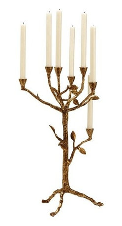 Arteriors - Sherwood Candelabra - Let your style branch out and bring a touch of the truly fantastical into everyday life. This nature-inspired, seven-light candelabra, done in an antique brass finish, sets the mood for magic.