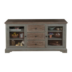 Jofran - Jofran 050-9 Brimfield Media Unit with 3 Drawers and 4 Adjustable Shelves - This classically constructed media unit in an antiqued grey finish is both functional and stylish. With plenty of versatile space for both storage and display this-piece would be a perfect addition for your media needs.
