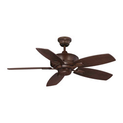 "Savoy House - Savoy House 42-830-5RV-129 The Wind Star 42"" Ceiling Fan - This eye-catching fan has sleek details that add the finishing touch to all of today's interiors. The rich Espresso finish is elegant and perfectly complemented by Walnut blades."