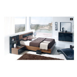 Jana Bedroom Set (Bed, Dresser, Mirror and 2 Nightstands) By ST, Spain -