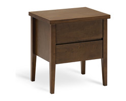 Bryght - Spiro 2 Drawer Cocoa Nightstand - A mid century inspired design the Spiro nightstand brings a sleek and modern feel to your bed room. Beautifully tapered legs with 2 drawers for storage make this a perfect accompaniment to any bed.