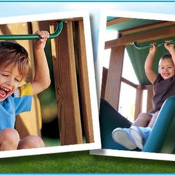 Creative Playthings - Creative Playthings Slide Handle - AG943-400 - Shop for Swings Slides and Gyms from Hayneedle.com! Gain momentum before taking the plunge by adding Creative Playthings' Slide Handle above your swing set's slide.Finished with a non-slip powder-coated finish this galvanized steel handle provides additional security. A seamless yet entirely functional addition it's finished in the same green hue as the ladder steps and handles.About Creative PlaythingsSince 1951 Creative Playthings has been building wooden swing sets and swing set accessories at their plant in Emporia Virginia. Creative Playthings cares deeply about the lives of American children as well as the livelihood of their American workers and all of their play systems are proudly Made in the USA. Creating beautiful functional children's play sets are not the sole goal at Creative Playthings' headquarters. The mission of Creative Playthings is to introduce exercise build self-confidence and develop the imaginations of young children so that they can grow to be well-rounded teens and adults. And for them that mission starts in the backyard.
