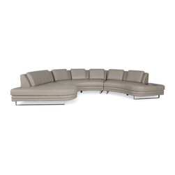 Moroni - Moroni -Positano Sectional - 540 - Stocked in Pewter Color - Grade B