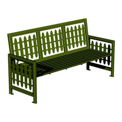 Paris Equipment - Paris Equipment Victorian Steel Commercial Park Bench - 71166000-TEAL - Shop for Benches from Hayneedle.com! The Victorian Park Bench stands out from the crowd featuring laser-cut backrest and side panels with a classic pattern. Made from solid metal this bench nevertheless offers a comfortable bench seat and the metal build is meant to endure through the harshest weather Mother Nature can offer. Available in your choice of three sizes/styles and a dozen colors you're sure to find a variation ideal for your situation.