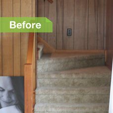 Beach Style  Beach Cottage Stairs Before