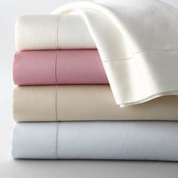 SFERRA - SFERRA Queen Fitted Sheet - Crisp bedding adds comfort and texture in colors to mix and match. Select color when ordering. Made of 300-thread-count Egyptian-cotton sateen. Machine wash. Made in Italy.