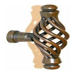 Alno Inc. - Alno Creations Eclectic 68mm Birdcage Pull (2 5/8 Inch) Rust A510-Rst - Alno Creations Eclectic 68mm Birdcage Pull (2 5/8 Inch) Rust A510-Rst
