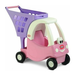 Little Tikes Princess Cozy Shopping Cart - Your budding cook can take her favorite doll or stuffed toy along on her shopping trip with the Little Tikes Princess Cozy Shopping Cart. This cart's sturdy basket and under-basket storage can carry plenty of items and the pretty pastel colors will appeal to your little princess. The cart has a rugged durable design and the car seat can hold a doll or stuffed toy up to 12 inches tall. This shopping cart measures 10.5L x 18.75W x 22.25H inches weighs 7.1 lbs. and is intended for children ages 3 and up. Additional features: Car seat holds up to 12-inch doll Spacious basket and under-basket storage Rugged construction Made in the USA with US and imported parts About Little TikesFounded in 1970 the Little Tikes Company is a multi-national manufacturer and marketer of high-quality innovative children's products. They manufacture a wide variety of product categories for young children including infant toys popular sports play trucks ride-on toys sandboxes activity gyms and climbers slides pre-school development role-play toys creative arts and juvenile furniture. Their products are known for providing durable imaginative and active fun. In November of 2006 Little Tikes became a part of MGA Entertainment. MGA Entertainment is a leader in the revolution of family entertainment. Little Tikes services the United States from its headquarters and manufacturing facility in Hudson Ohio but also operates several manufacturing and distribution centers in Europe and Asia.