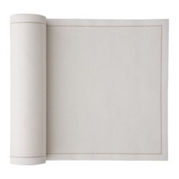 MYdrap - Cotton Placemat, Ecru - This set of 12 convenient cotton placemats adds a nice touch to a casual table setting without creating more cleanup hassle. Just tear them off the roll like paper towels, wash and reuse up to six times. They will hold up better and look nicer than paper placemats, but you won't have to worry about staining your classy linens.