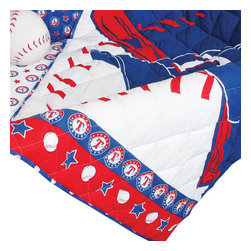 Store51 LLC - MLB Texas Rangers Crib Bedding Set Baseball Quilt Bumper - Features: