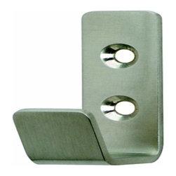 Hafele - Hafele: Coat Hook: Stainless Steel: Matt: 40mm X 60mm - Hafele: Coat Hook: Stainless Steel: Matt: 40mm X 60mm