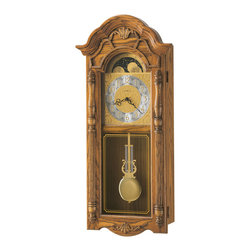 Howard Miller - Howard Miller Country Dual Chime Golden Oak Wall Clock | ROTHWELL - 620184 Rothwell