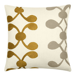 Celine Pillow - A scattering of cushions on the sofa will add to the comfort of your afternoon nap. This pretty hand-embroidered chain-stitch pillow from Judy Ross Textiles would definitely make it a more stylish one too.