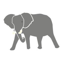 My Wonderful Walls - Elephant Stencil for Painting - - Large elephant wall stencil for jungle theme wall mural