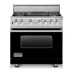 "Viking 36"" Pro-style Dual-fuel Range, Black Liquid Propane 