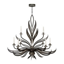 Fine Art Lamps - Fine Art Lamps Villandry Black 815140-2ST 12-Light 57'' Wide Grand Chandelier - Fine Art Lamps' artistic heritage began in the glass making factory founded by Max Blumberg in New York in the late nineteenth century. In 1940 his son Jack Blumberg gathered the finest designers sculptors and decorative artists to fulfill their vision of becoming the premier lighting manufacturer in the world and Fine Art Lamps was born. From the beginning Fine Art Lamps has achieved a high artistic standard by creating unique and original lighting designs of beautifully handcrafted metal hand-blown glass and other unique materials with exquisite hand applied finishes. In all Fine Art lamps represents the singular vision of over 700 skilled designers artists craftsman and associates working together in five plants totaling over 400000 square feet to create unique works of art for the international design community. An American Manufacturer with International AppealFine Art Lamps has a global market and universal design appeal. From its' Florida facilities Fine Art Lamps lighting travels to every corner of the world destined for the finest homes villas palaces hotels and public spaces.Fine Art Lamps has expertise in foreign wiring requirements covering every continent and customers rely upon the company's International Product Specification Brochure for accurate measurements weights and technical specifications.