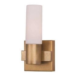 Maxim Lighting - Maxim Lighting 22411SWNAB Contessa Modern Wall Sconce in Natural Aged Brass - Maxim Lighting 22411SWNAB Contessa Modern Wall Sconce In Natural Aged Brass