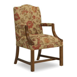 Sam Moore - Sam Moore Martha Exposed Wood Chair - Tuscany Multicolor - 4006.11/2157 TUSCANY - Shop for Living Room Chairs from Hayneedle.com! The Sam Moore Martha Exposed Wood Chair - Tuscany has an antique look perfect for your home. With its classic Chippendale design curved wooden arms and handsome floral fabric upholstery this chair offers comfort and timeless style. Tailored welt trim and tuscany finished wood legs complete the look.About Sam MooreSince 1940 Sam Moore's hand-crafted upholstered furniture has offered extraordinary quality comfort and style. This Bedford Virginia-based company proudly crafts its products right here in the USA. From classic to transitional to contemporary styles Sam Moore takes time with every detail making sure each piece is something you'll appreciate in your home.