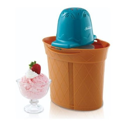 "SUNBEAM RIVAL - 4 QT OVAL ICE CREAM BUCKET - Sturdy and lightweight, 10-1/2""H leakproof polypropylene bucket. Powerful 1.2-amp top-mounted motor shuts off automatically when ice cream is ready. Aluminum canister with translucent lid. No Latch locking system. Uses rock salt and ice. Includes recipes   and durable metal cream container.          Size Qt=4  This item cannot be shipped to APO/FPO addresses.  Please accept our apologies"