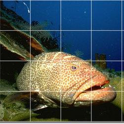 Picture-Tiles, LLC - Sea Life Photo Custom Tile Mural 26 - * MURAL SIZE: 24x36 inch tile mural using (24) 6x6 ceramic tiles-satin finish.