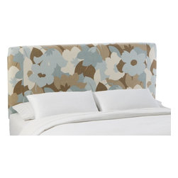 Skyline Furniture - Esprit Seaglass Slipcover Headboard Multicolor - 730SLTESPRTSEAGLSS - Shop for Headboards and Footboards from Hayneedle.com! Esprit de corps? More like esprit decor. Bringing a little esprit to any decor the Esprit Seaglass Slipcover Headboard creates floral style without the fuss. Seaglass flowers inspired by island life blend with the whites khakis and browns on the 100% cotton slipcover. A sturdy solid pine wood frame and full padding underneath complete the headboard and it's available in your choice of sizes. The included metal legs attach to your standard bed frame. Slipcover is removable for easy spot treatment or professional cleaning.Headboard Dimensions:Twin: 41W x 4D x 51H inchesFull: 56W x 4D x 51H inchesQueen: 62W x 4D x 51H inchesKing: 78W x 4D x 51H inchesCalifornia King: 74W x 4D x 51H inchesAbout Skyline Furniture Manufacturing Inc.Skyline Furniture was founded in 1948 with the goal of producing stylish affordable quality furniture for the home. After more than 50 years this family-run business is still designing and manufacturing unique products that meet the ever-changing demands of the modern home furnishing industry. Located in the south suburbs of Chicago the company produces a wide variety of innovative products for the home including chairs headboards benches and coffee tables.