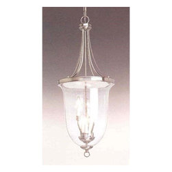 Progress Lighting - P3754-09:  Brushed Nickel Six-Light Foyer Pendant - Elegant six-light foyer pendant with clear seeded glass. Progress Lighting - 94375409