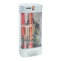 OPTIMUS - OPTIMUS H-5230 Tower Quartz Heater - 750W (low)/1,500W (high);Instant, sun-like warmth radiant heat source;Automatic reset temperature limit control;Cool touch housing & ultra-quiet operation;Overheat protection circuit & warming light;Tip-over safety switch;Overheat thermal cu