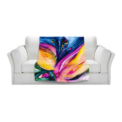 DiaNoche Designs - Throw Blanket Fleece - Soul Flower 36 - Original Artwork printed to an ultra soft fleece Blanket for a unique look and feel of your living room couch or bedroom space.  DiaNoche Designs uses images from artists all over the world to create Illuminated art, Canvas Art, Sheets, Pillows, Duvets, Blankets and many other items that you can print to.  Every purchase supports an artist!