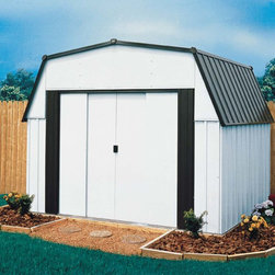 Arrow Estator Shed - Take a look at some of our Arrow brand sheds. Arrow is the leading manufacturer of steel sheds in the USA. They offer a very economical solution to all of your storage needs. Arrow has a full line of small garden sheds to large garages.