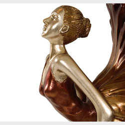 Euros Floor Lamp - Gorgeous sculpture-like lamps that capture in time a Broadway musical or perhaps a ballet recital character. Place it right next to a piano or that exclusive chair for a legendary home setting.