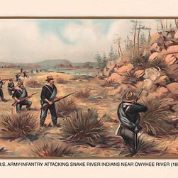 Buyenlarge.com, Inc. - Infantry Attacking Snake River Indians Near Owyhee River, 1880 - Another high quality vintage art reproduction by Buyenlarge. One of many rare and wonderful images brought forward in time. I hope they bring you pleasure each and every time you look at them.
