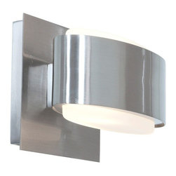 Access Lighting - Access Lighting Iridium 1-lt Metal and Glass Wall/Vanity - Contemporary 1-lt metal and glass wall/vanity. Available with frosted glass.Close out prices. While supplies last
