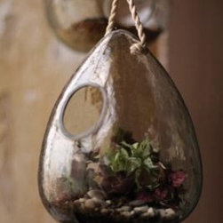 recycled tier drop glass hanging bird feeder - This striking glass bird feeder will look lovely hanging from your tree and feed your favorite feathered friends.