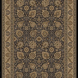 """Orian - Orian American Heirloom Protiva (Onyx) 7'10"""" x 10'10"""" Rug - American Heirloom Collection, Orian Rugs' flagship collection is inspired by classic, hand-woven oriental rugs that combine understated elegance with classic style. The 1.5 million point design construction is densely woven with Orian's finest-denier yarns creating unparalleled visual dimension and pin point design clarity."""