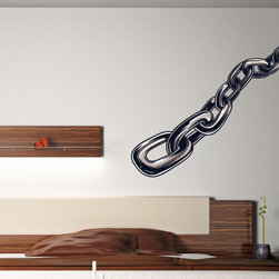 Symbol Chain Vinyl Wall Decal SymbolChainUScolor002; 72 in. - Vinyl Wall Decals are an awesome way to bring a room to life!