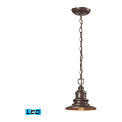 Elk Lighting - Elk Lighting Marina 1 Light Outdoor Pendant in Hazelnut Bronze - 1 Light Outdoor Pendant in Hazelnut Bronze belongs to Marina Collection by The Marina Collection Features A Charming Nautical Appeal That Will Illuminate Your Outdoor Space With Distinctive Style. Finished In Hazelnut Bronze Or Matte Silver. - LED Offering Up To 800 Lumens (60 Watt Equivalent) With Full Range Dimming. Includes An Easily Replaceable LED Bulb (120V). Pendant (1)