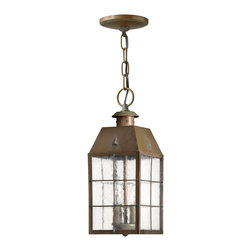 Hinkley Lighting - Hinkley Lighting 2372AS Nantucket Transitional Outdoor Hanging Light - A Hinkley classic, Nantucket features a timeless New England design for the ultimate in vintage nautical chic. An Aged Brass finish, clear seedy glass panels and durable solid brass construction add to its retro appeal.