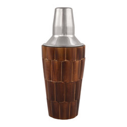 Old Kentucky Home Cocktail Shaker - Bring a unique touch to your home or bar with this beautiful cocktail shaker. Inspired by the Kentucky Derby and the 1930's, this shaker is detailed with elegant bamboo pieces and holds 28 ounces of your favorite cocktail!