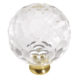 Hickory Hardware - Hickory Hardware 35mm Crystal Palace Crysacrylic Polished Brass Cabinet Knob - Classic lines, finishes and styles create a warm and comforting feel.  Usually 18th-century English, 19th-century neoclassic, French country and British Colonial revival.  Use of classic styling and symmetry creates a calm orderly look.
