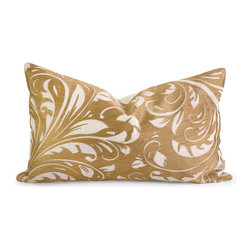 iMax - Iffat Khan Rozene Embroidered Pillow with Down Fill - Iffat Khan has developed a luxurious collection of down pillows with embroidered details and top of the line fabrics. Iffat's  refined aesthetic is evident in her collection which combines clean modern, classic casual and timeless traditional styles with her own creative twist.
