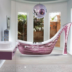 Icons Mosaic Shoe Bathtub