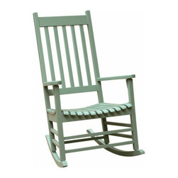 International Concepts - International Concepts R-54207 Porch Rocker - Solid Wood - Moss - Porch Rocker - Solid Wood - Moss by International Concepts Rocker (1)